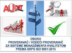 Tranziciona obuka za proveravače za sistem menadžmenta kvalitetom prema SRPS ISO 9001:2015 @ Beograd