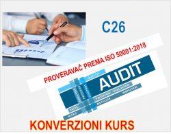 C26 Proveravač za sistem menadžmenta energijom prema ISO 50001:2018 - konverzioni kurs @ Novi Sad
