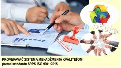 C14 Proveravač za sisteme menadžmenta kvalitetom prema SRPS ISO 9001:2015 @ StandCert