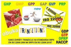 F06 Kako izvršiti tranziciju sa standarda SRPS EN ISO 22000:2006 na SRPS EN ISO 22000:2018? @ Beograd
