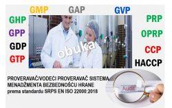 C 25 Vodeći proveravač/proveravač za sisteme menadžmenta bezbednošću hrane prema standardu ISO 22000:2018 (za proveravače koji su već obučeni prema nekom drugom standardu za sisteme menadžmenta) @ Novi Sad
